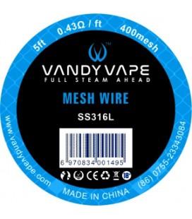 WIRE MESH SS316L 400 MESH 1,5M - Vandy vape