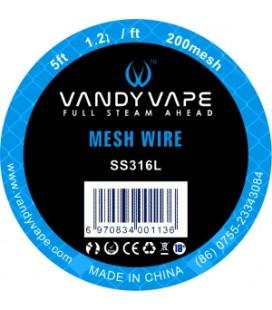 WIRE MESH SS316L 200 MESH 1,5M - Vandy vape